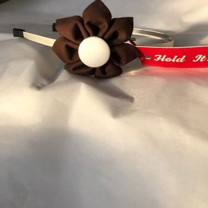 Other - Brown and white flower headband NWT